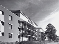 Symbiose 1: Renovierte Wohngebäude in der benachbarten ehemaligen Kasernenanlage